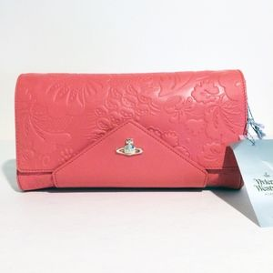 Vivienne Westwood Pink Leather Clutch with Strap